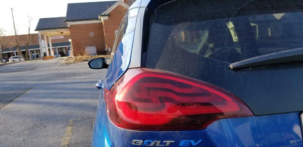 rear of the Bolt EV