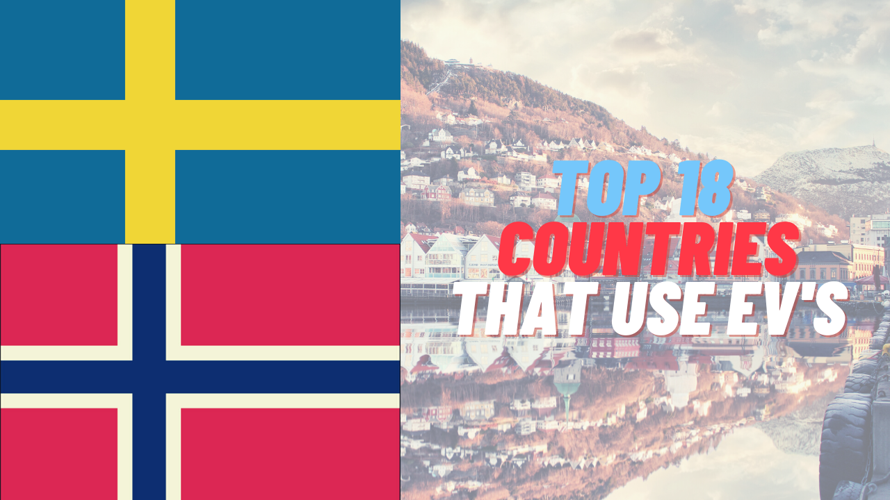 the top 18 countries that use electric cars