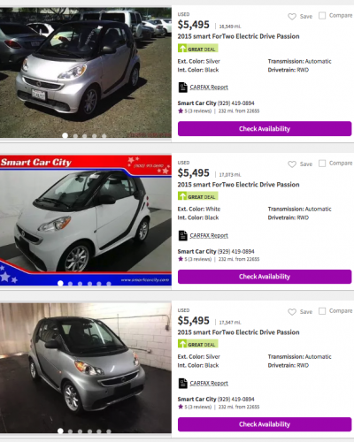 Smart Fortwo Electric Drive 2013-2015
