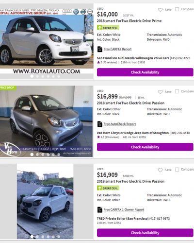 Smart Fortwo Electric Drive 2017-2018